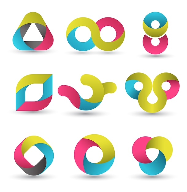Set di forme moderne. Vettore Premium