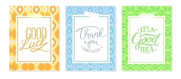 Set di frame di invito; foglie, acquerello Vettore gratuito