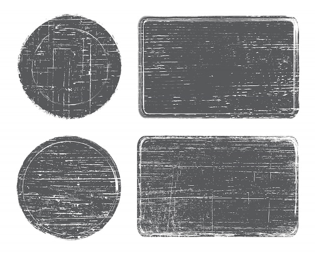 Set di francobolli grunge Vettore Premium