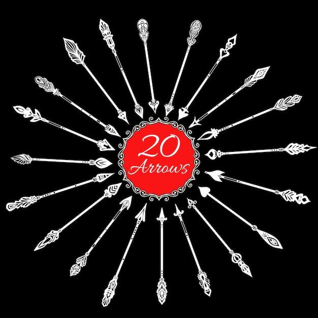 Set di frecce di lavagna Vettore gratuito