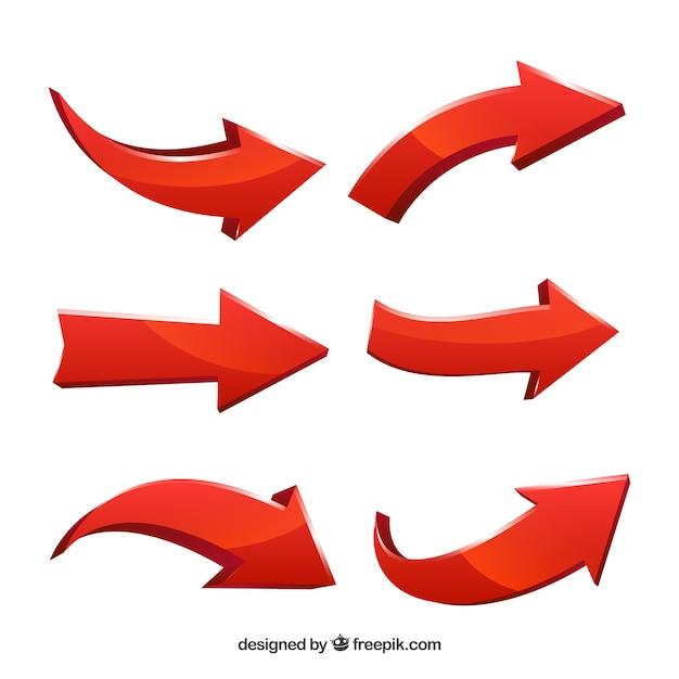 Set di frecce per segnare in stile realistico Vettore gratuito