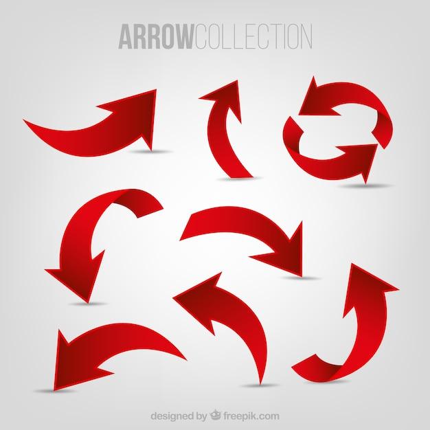 Set di frecce rosse Vettore gratuito