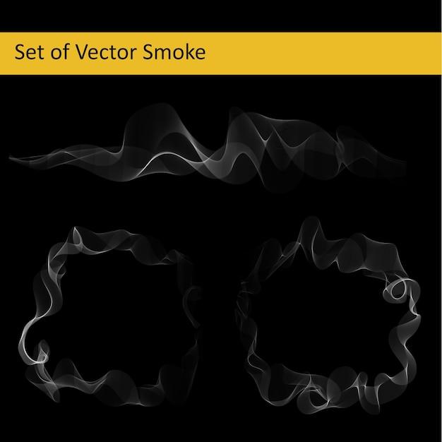 Set di fumo vettoriale astratto Vettore gratuito