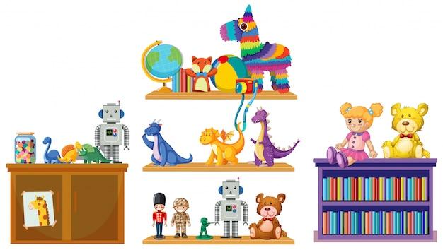 Set di giocattoli per bambini Vettore gratuito