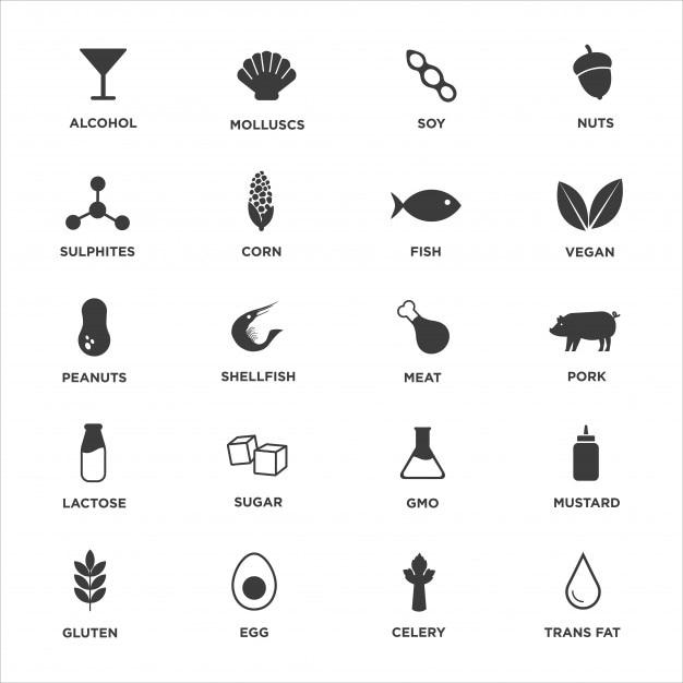 icone allergeni da