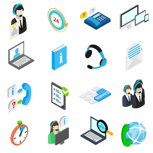 Set di icone del servizio informatico Vettore Premium