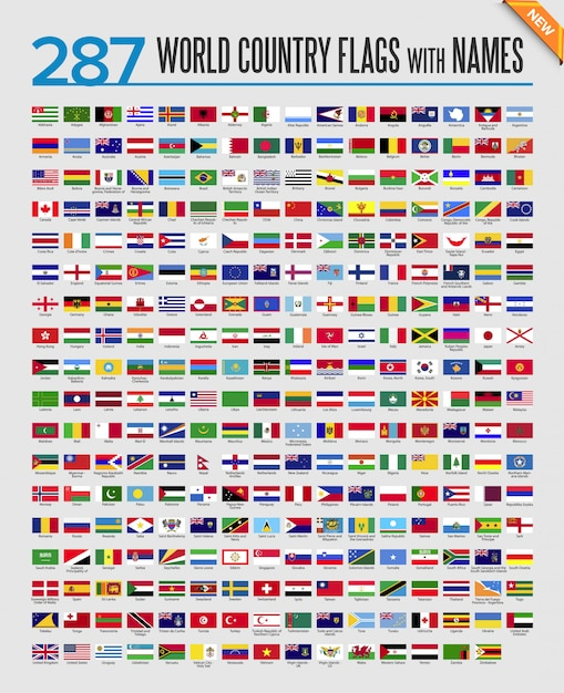 It is a graphic of Playful Flags of the World Printable Pdf