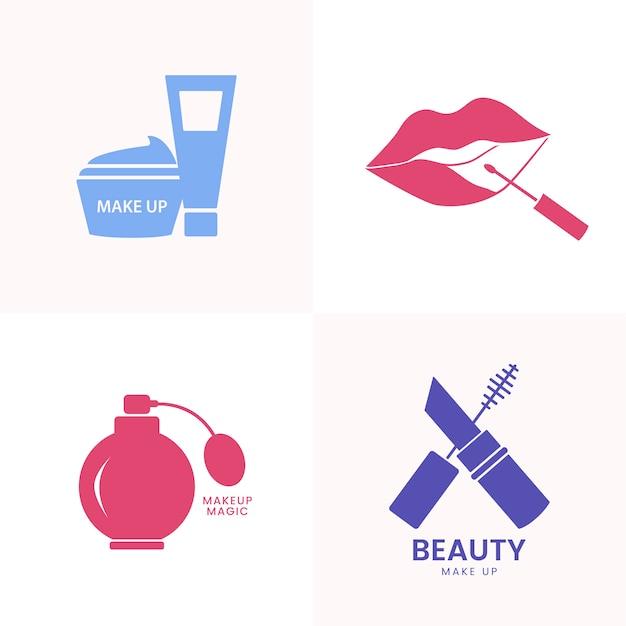 Set di icone di bellezza cosmetici Vettore gratuito
