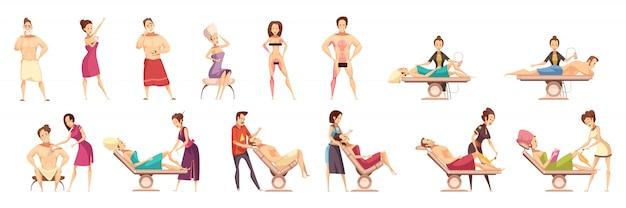 Set di icone di epilazione depilazione depilazione Vettore gratuito