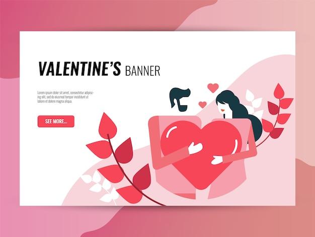 Set di icone di san valentino. stile icone riempito e contorno. Vettore Premium