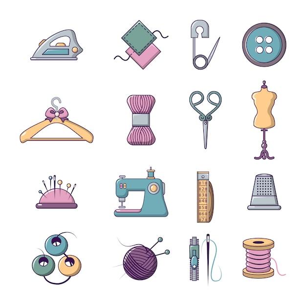 Set di icone di strumenti su misura Vettore Premium