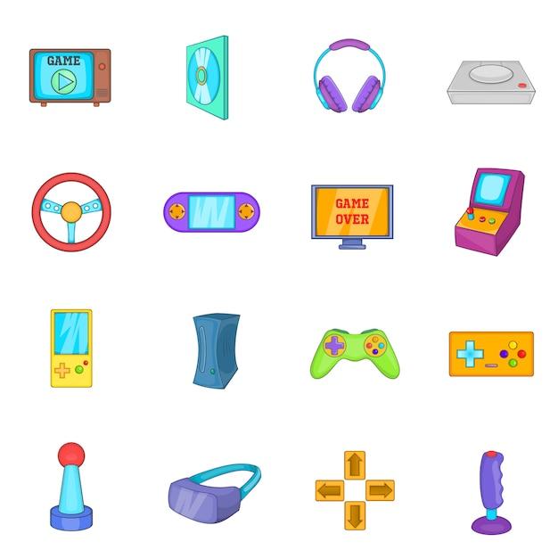 Set di icone di videogiochi Vettore Premium