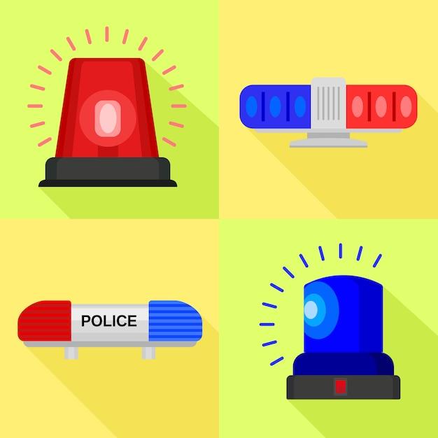 Set di icone lampeggiatore Vettore Premium