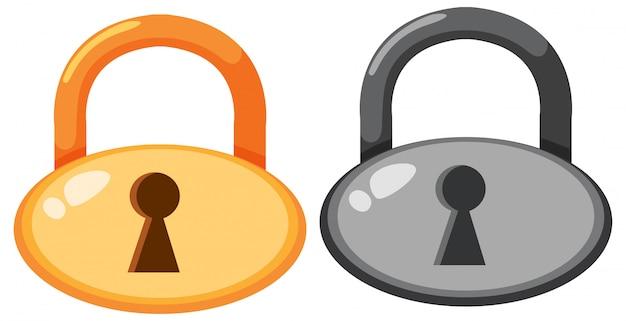 Set di icone lockpad Vettore gratuito