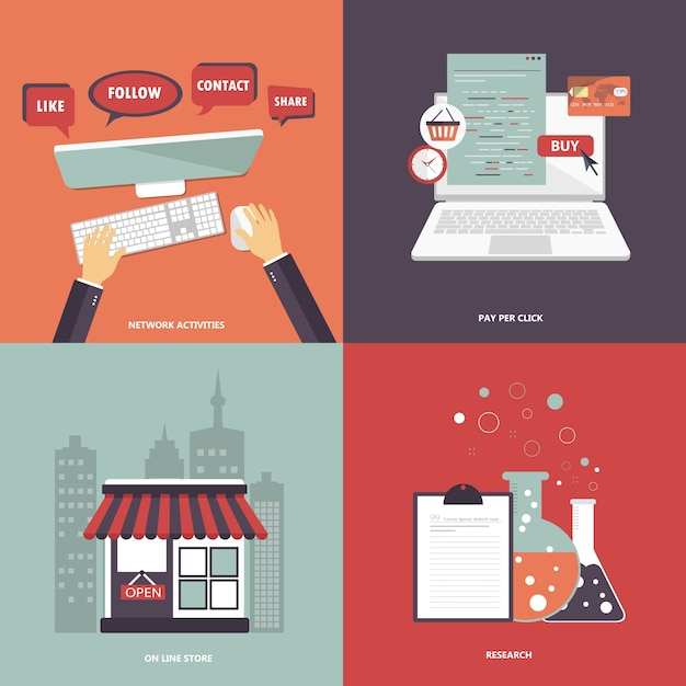Set di icone per siti web e applicazioni mobili for Siti per mobili