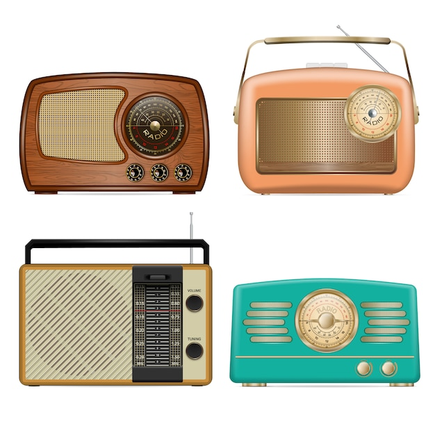 Set di icone radio Vettore Premium