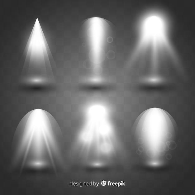 Set di illuminazione scena realistica Vettore gratuito