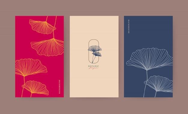 Set di illustrazione botanica Vettore Premium