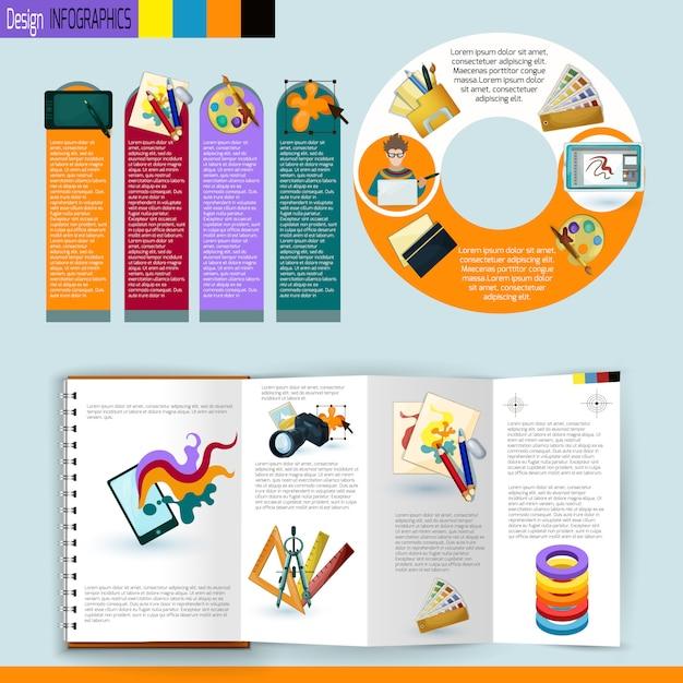 Set di infografica di design Vettore gratuito