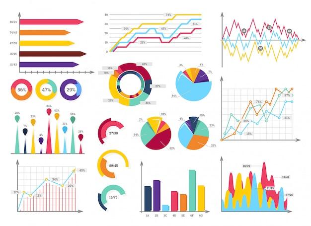 Set di infografica Vettore Premium