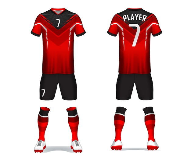 Set di kit da calcio Vettore Premium