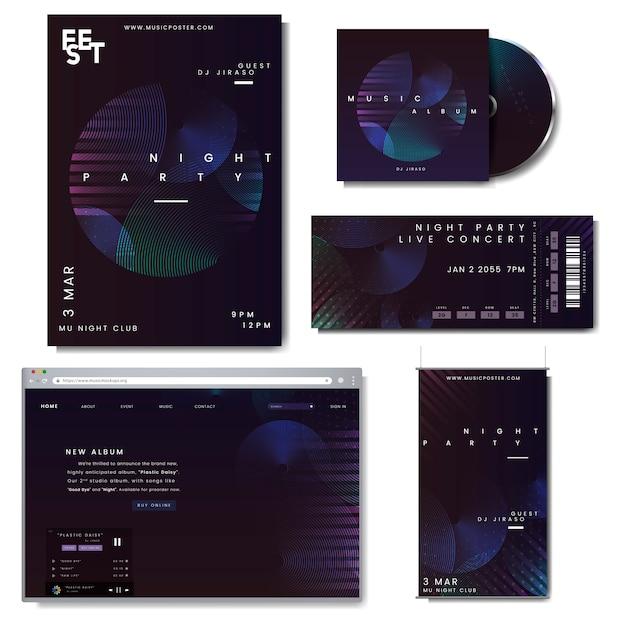 Set di layout promozionale Vettore gratuito