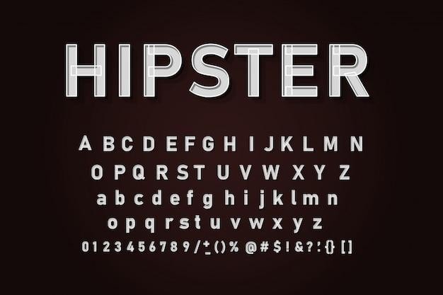 Set di lettere dell'alfabeto classico Vettore Premium