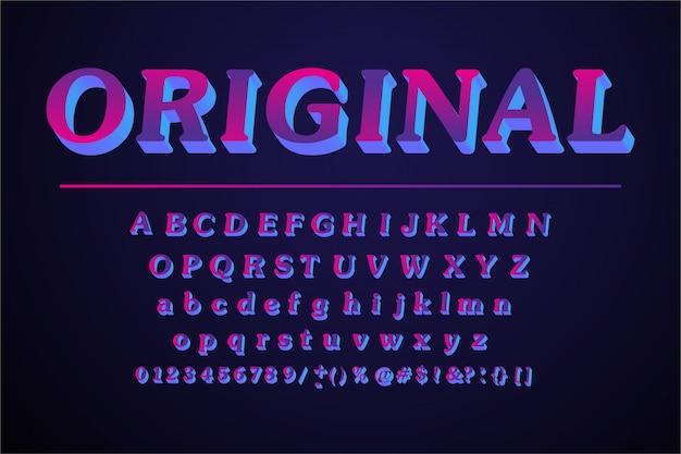 Set di lettere dell'alfabeto originale Vettore Premium