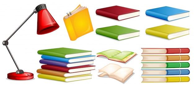 Set di libri diversi Vettore gratuito