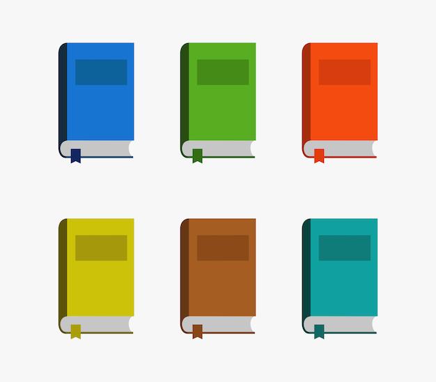 Set di libri Vettore Premium