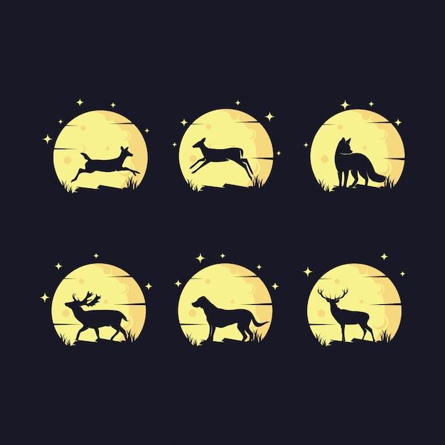 Set di logo animale Vettore Premium