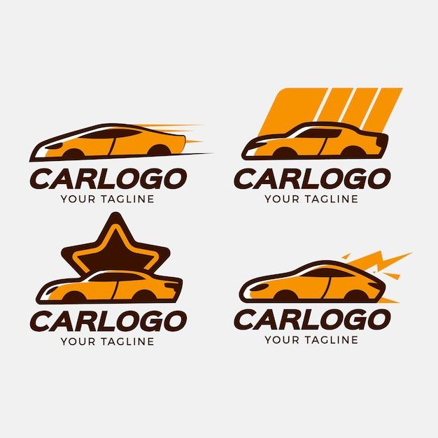 Set di logo auto design piatto Vettore gratuito