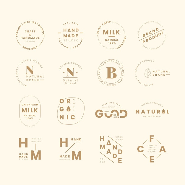Set di logo del marchio Vettore gratuito