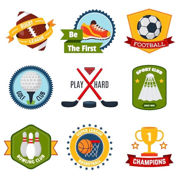 Set di logo sportivo Vettore gratuito