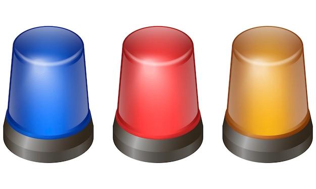 Set di luci lampeggianti Vettore Premium
