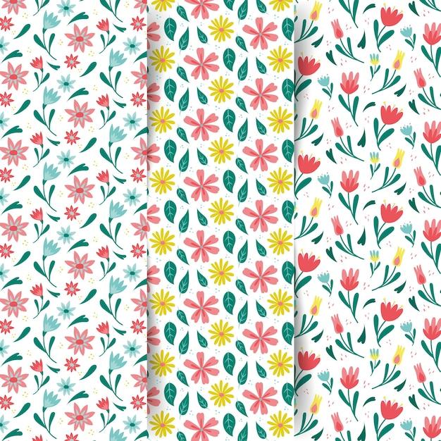 Set di modelli colorati primavera Vettore gratuito