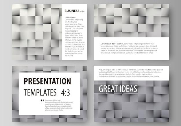 Set di modelli di business per diapositive di presentazione Vettore Premium
