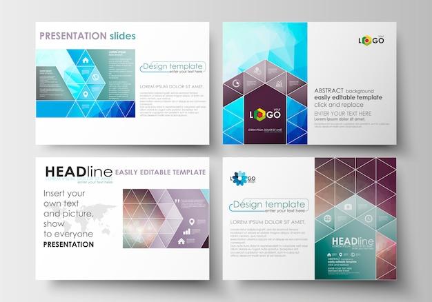 Set di modelli di business per diapositive di presentazione. Vettore Premium
