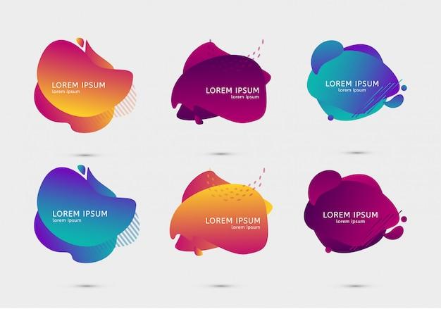 Set di modelli di gradiente di design colorato Vettore Premium
