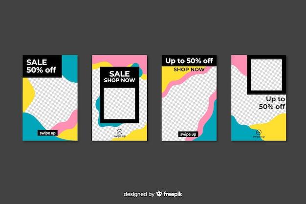 Set di modelli di storie instagram vendita Vettore gratuito