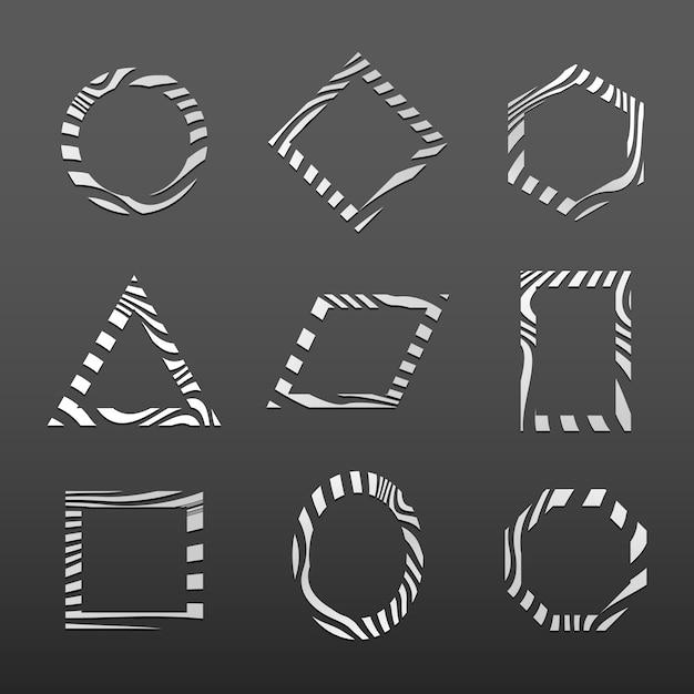 Set di modello distintivo astratto Vettore gratuito