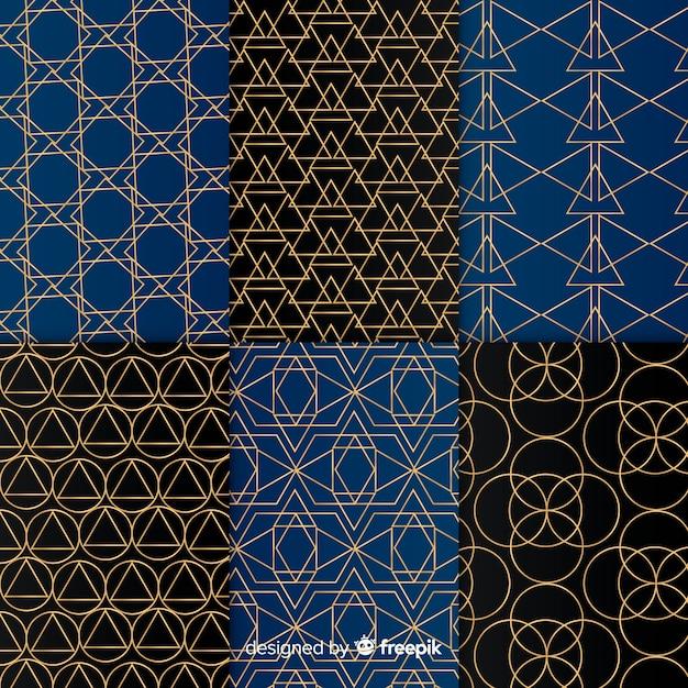 Set di motivi geometrici di lusso Vettore gratuito