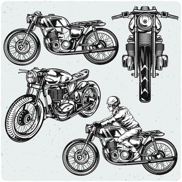 Set di motocicli Vettore Premium