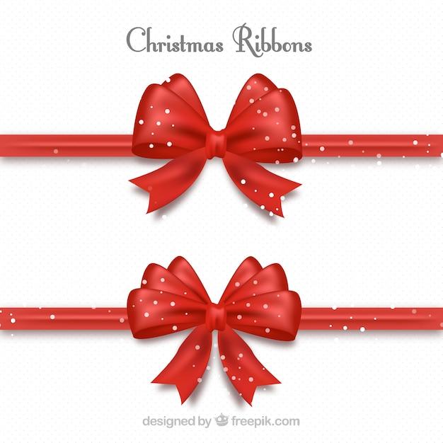 Set di nastri decorativi rossi per i regali di natale - Nastri decorativi per albero di natale ...