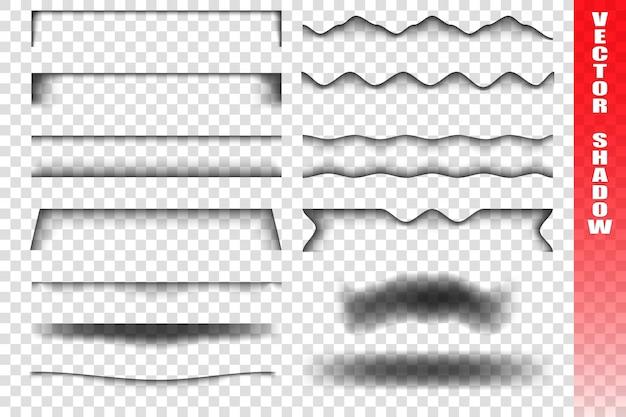 Set di nastri trasparenti con le ombre. Vettore Premium