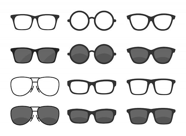 Set di occhiali Vettore Premium