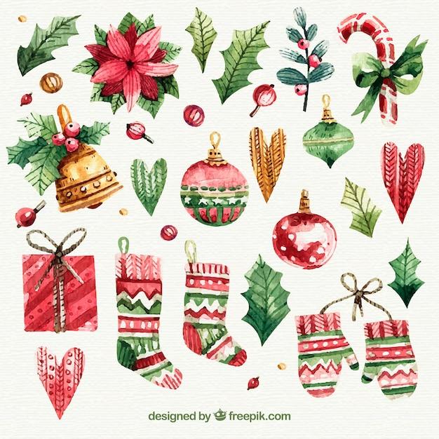 Oggetti Di Natale.Set Di Oggetti Di Natale Disegnati A Mano Scaricare