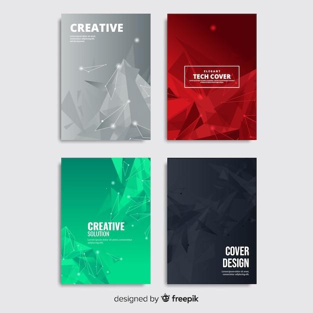 Set di opuscolo tecnologia colorato Vettore gratuito