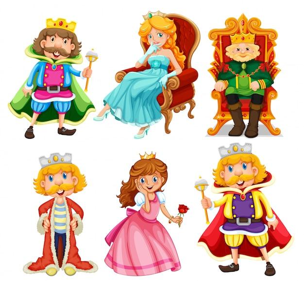 Set di personaggio dei cartoni animati di fantasia Vettore gratuito