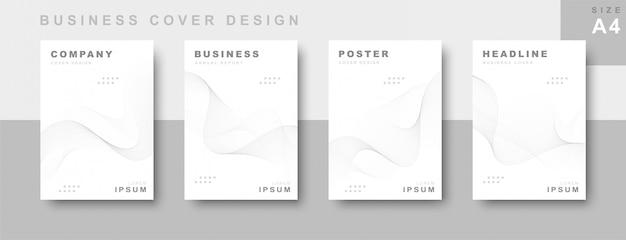 Set di progettazione copertina aziendale Vettore Premium